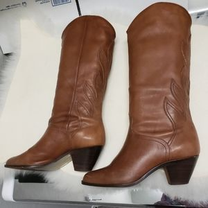 Made in Brazil 7.5 B Detailed Leather Womens Boots